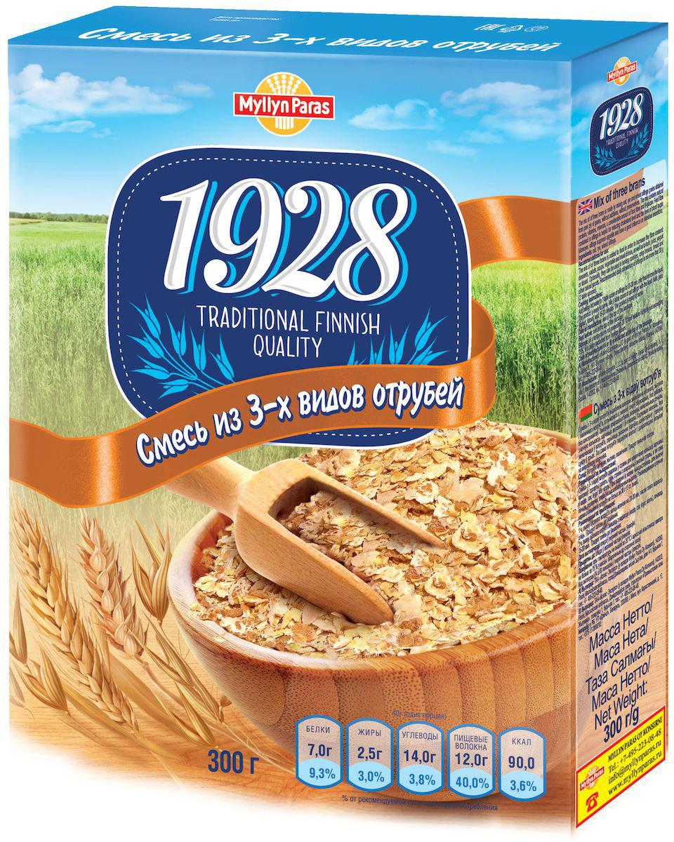Myllyn Paras хлопья смесь из 3-х видов отрубей, 300 г0120710Смесь из 3-х видов отрубей Мюллюн Парас изготовлена путем смешивания овсяных, ржаных и пшеничных отрубей. Ценность смеси из 3-х видов отрубей Мюллюн Парас заключается в содержании белков, витаминов, минеральных веществ, значительного количества пищевых волокон. 100 г смеси из 3-х видов отрубей Мюллюн Парас содержит 30 г пищевых волокон, т.е. в двух столовых ложках содержится примерно 6 г, что составляет 20% от рекомендованного потребления в день.Не содержит генетически модифицированные организмы.