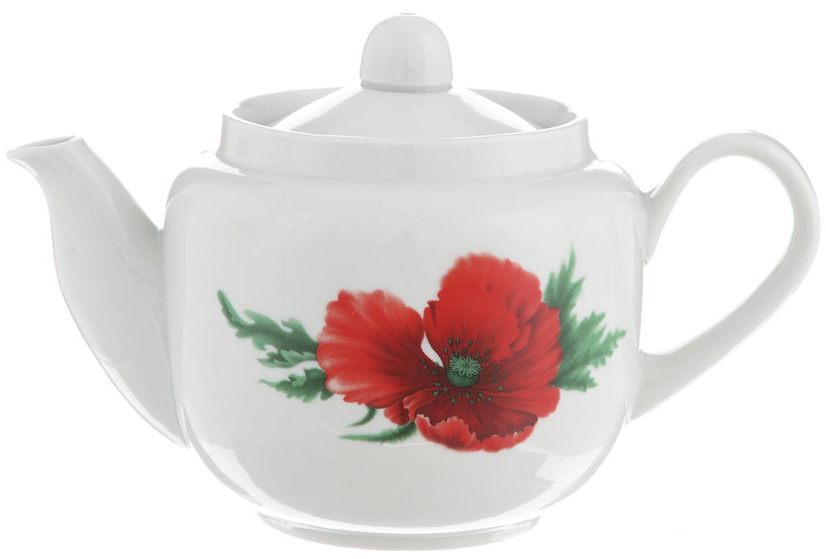 Чайник заварочный Фарфор Вербилок Август. Маков цвет, 600 мл115510Заварочный чайник Фарфор Вербилок Август. Маков цвет изготовлен из высококачественного фарфора. Изделие прекрасно подходит для заваривания вкусного и ароматного чая, а также травяных настоев. Отверстия в основании носика препятствуют попаданию чаинок в чашку. Оригинальный дизайн сделает чайник настоящим украшением стола. Он удобен в использовании и понравится каждому.Диаметр чайника (по верхнему краю): 8,5 см. Высота чайника (без учета крышки): 10 см. Высота чайника (с учетом крышки): 11,5 см.