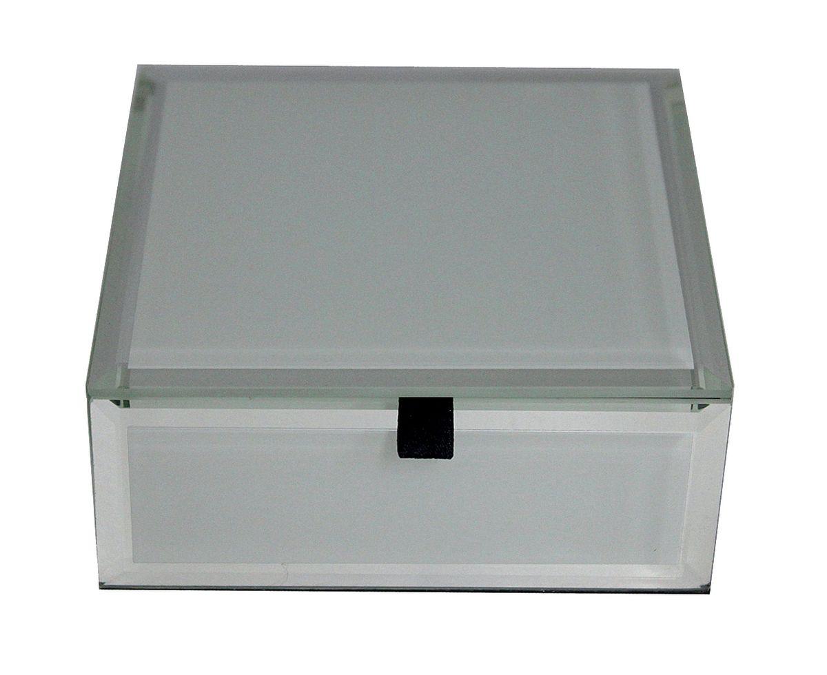 Шкатулка Jardin dEte Инь-Ян, цвет: белый, 12 х 12 х 5 смFS-91909cталь, стекло