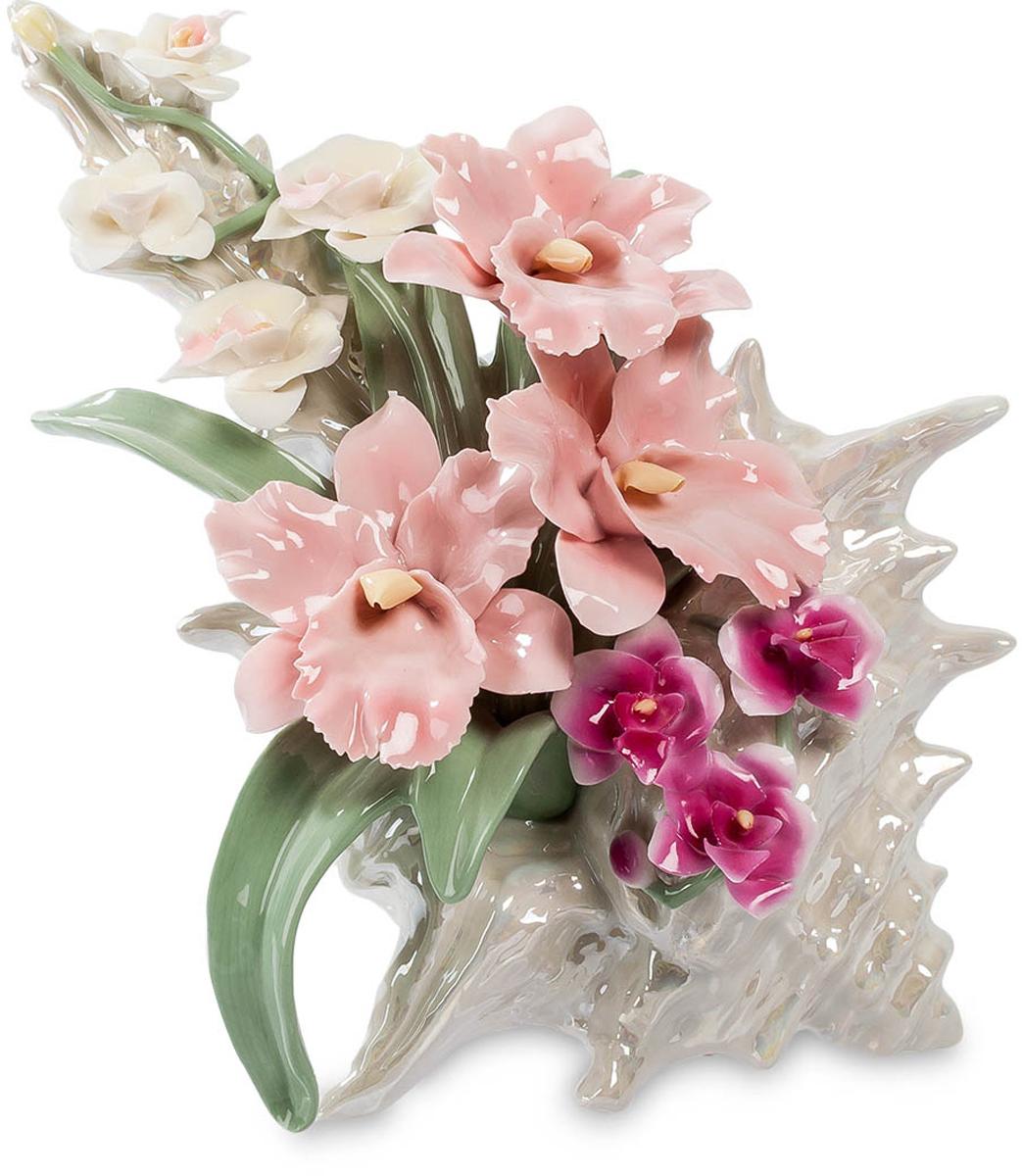 Композиция декоративная Pavone Ракушка с цветами, музыкальная. CMS-33/ 1CMS-33/ 1Музыкальная композиция Ракушка с цветами выполнена в причудливой форме раковины из далеких тропических морей и сама по себе достойна восхищения. Но она использована как основа для размещения в ней цветочной композиции, лаконичной и удивительно красивой. Белые, розовые и малиновые цветы, зеленые листья – все это выполнено из тончайшего фарфора и радует взгляд не хуже живых цветов. Красота каждого цветка находит отклик в красоте творения морских глубин, создавая удивительное впечатление. Так и кажется, что сейчас зазвучит прекрасная музыка. И она действительно начинает звучать: в фигурку встроен музыкальный механизм, который можно просто завести и слушать музыку.Размер: 20 х 16 х 19,5 см.