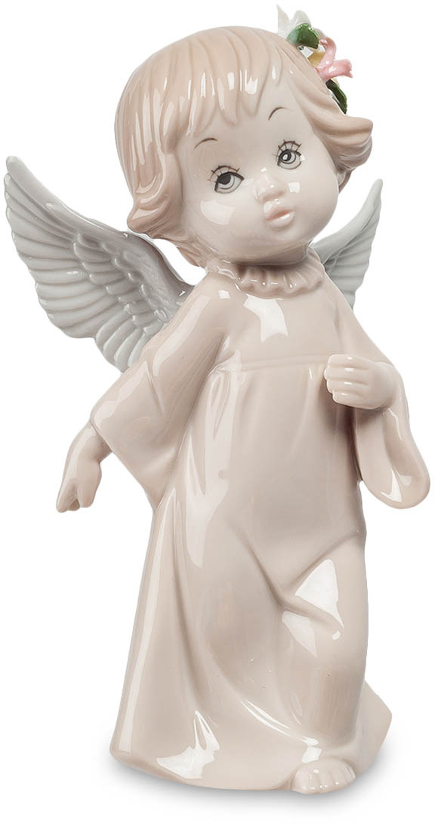Фигурка Pavone Ангел. JP-05/ 3THN132NФигурка Ангела высотой 16 см.Гармоника, как ни удивительно, отвечает за гармонию в семье.Замечательная фарфоровая фигура Ангел удачно впишется в любой интерьер и будет хорошим подарком. Статуэтка покрыта краской, защищенной глазурью, которая никак не потеряет цвет, непосредственно фарфор не опасается времени, потому фигурка может приносить радость вам, вашим деткам, и станет верным хранителем гармонии в семье.