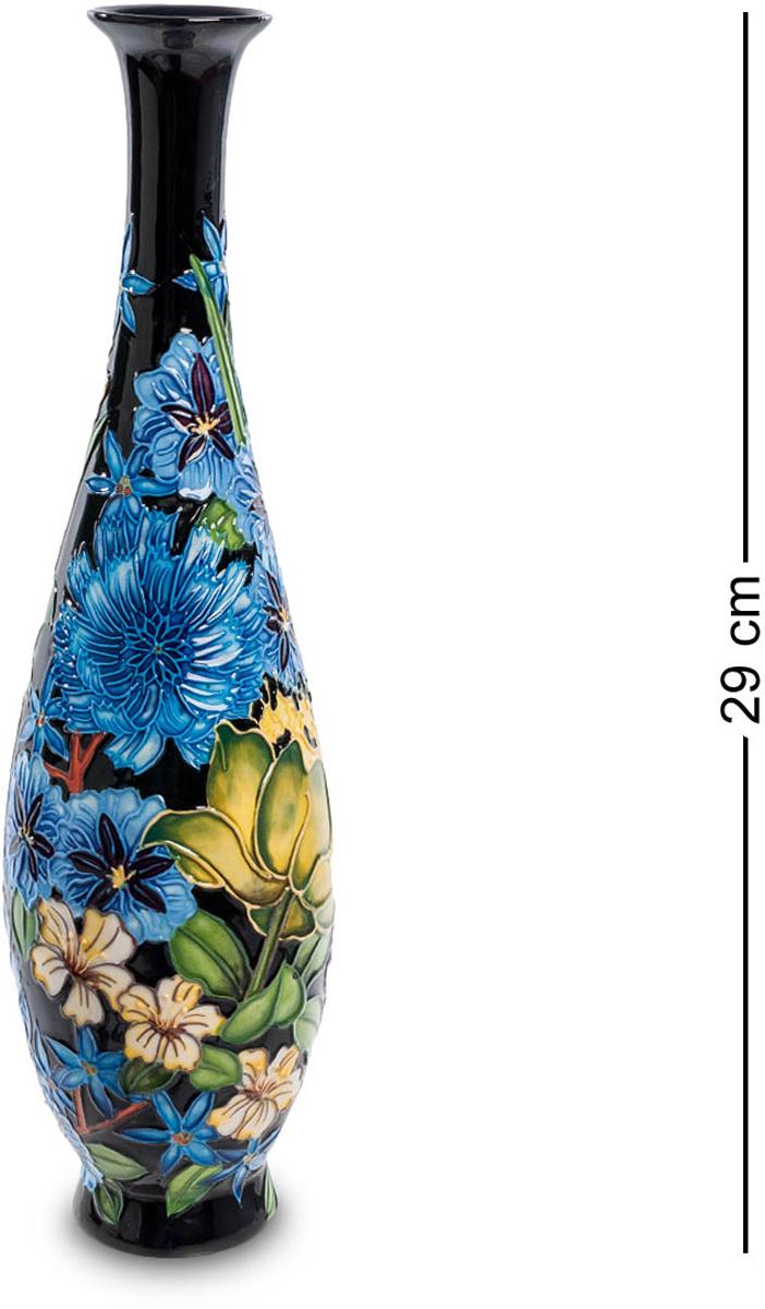 Ваза Pavone. JP-670/ 354 009312Ваза высотой 29 см.Высокая узкая ваза рассчитана на минимальное количество цветов – один, три, ну, пять самое большее, поместится в узкое горлышко. Но и без цветов ваза красива: на фоне черной лаковой поверхности – пышная пестрота самых разных по цвету и размеру цветов – эта ваза, сама по себе, букет напоминает. Придется только подбирать цветы в соответствии с нарисованными, чтобы никакой дисгармонии не было. Прекрасный семейный подарок: пусть в доме всегда будут цветы, несущие радость, счастье и любовь!