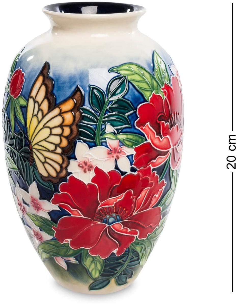 Ваза Pavone. JP-852/ 2FS-80423Ваза высотой 20 см.Потрясающая красочная ваза – настоящее произведение искусства! Она мастерски расписана разнообразными яркими цветами и невероятно милой бабочкой. Такой шедевр выигрышно смотрится в любом интерьере, наполняет его атмосферой летнего солнечного дня и словно передает ароматы пышно цветущих растений. Флористический дизайн изделия обязательно придется по вкусу представительницам женского пола. Выразительная ваза вызовет восторг и восхищение с первого взгляда!