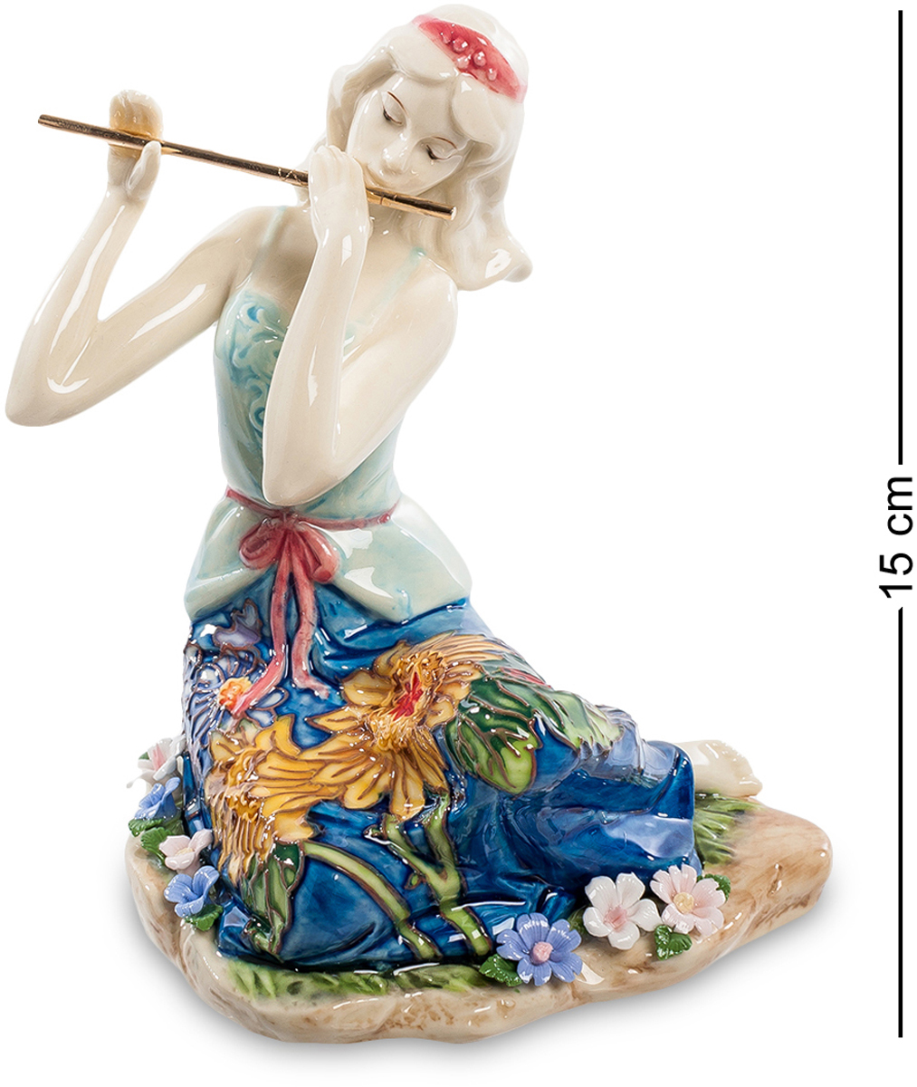 Статуэтка девушка Pavone Волшебная флейта. JP-37/ 6FS-80299Статуэтка Девушки высотой 15 см.Волшебный звук флейты предвещает прекрасные минуты музыкального наслаждения.Статуэтка девушки с волшебной флейтой – это нечто сказочное. Она просто удивительна. В ней яркие краски и красота природы создают единую симфонию. От статуэтки исходит нежность и утонченность. Она вся пропитана искусством. Тонкие пальцы девушки нежно охватывают флейту. Статуэтка девушка Волшебная флейта для людей, которые ценят изысканность. Цветы на подоле платья превосходно дополняются мелкими цветочками, которые расположены на камне. Яркие цвета удивительно сочетаются с нежными и светлыми оттенками.