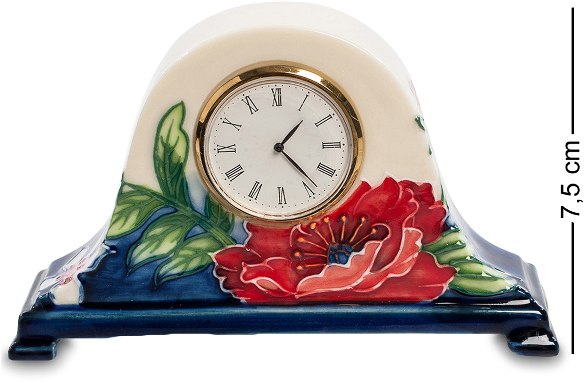 Часы Pavone Цветущий сад. JP-852/1394672Часы высотой 7.5 см.Компактные часы в очаровательном старинном стиле. Часовой механизм находится внутри фарфорового основания, на котором нарисован цветущий сад. Циферблат имеет классическую круглую форму и выполнен из металла цвета золота. На фарфор нанесены изображения трав и цветов, а их основание окрашено в тёмно-синий цвет. Такие часы прекрасно подойдут для размещения на рабочем столе или на прикроватной тумбочке.
