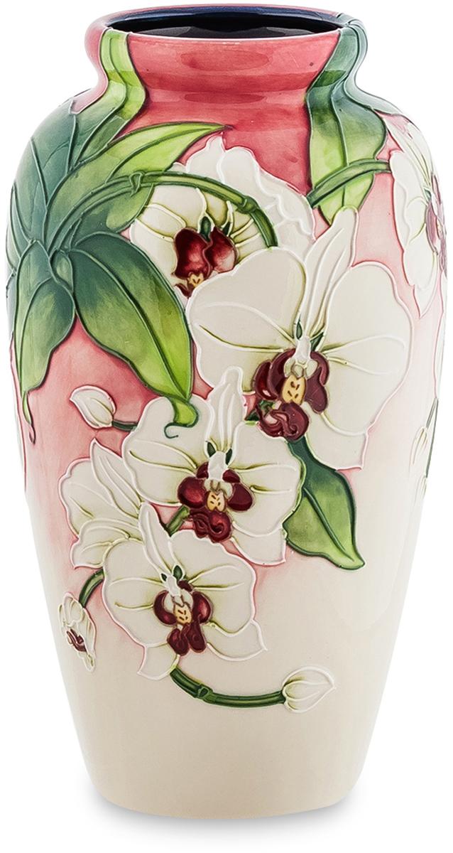 Ваза Pavone Орхидея. JP-98/ 6JP-670/ 5Дизайнерская ваза Орхидея станет гармоничным дополнением самых красивых цветочных композиций. Изготавливая эту вазу, мастер решил выразить в ней все грани своего художественного таланта. И нужно заметить, что это у него получилось на отлично. На поверхности изделия запечатлены веточки орхидей, усеянные белоснежными распустившимися бутонами. Удачное сочетание цветовых оттенков, а также искусное исполнение вазы делают это изделие отличным подарком и идеальным интерьерным украшением.