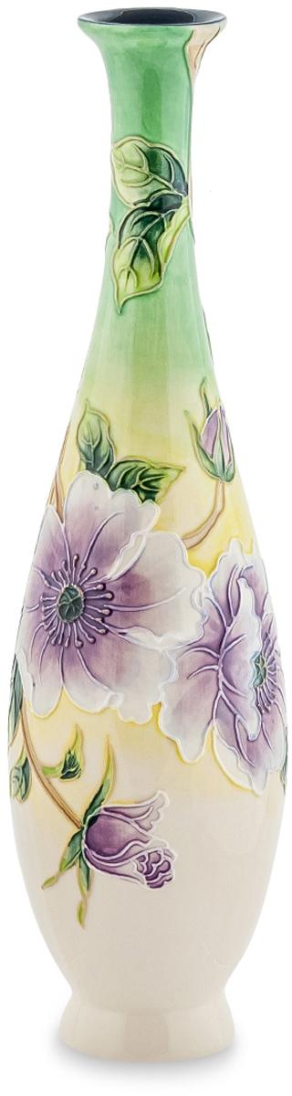 Ваза Pavone Камелия. JP-98/17FF02633AВаза Камелия имеет несколько цветовых решений, а также несколько различных вариантов узоров, которыми она украшена. Но, какой бы вариант вы не выбрали, эта ваза будет прекрасна в любом из них. Высокая, украшенная бабочками или цветами на нежном светлом фоне, она растопит сердце любой женщины, особенно, если вместе с вазой сразу же подарить и цветы. Утонченная форма, настоящий итальянский фарфор и талант мастеров компании Pavone - вот что делает эту вазу практически идеальным подарком для представительниц прекрасной половины человечества.