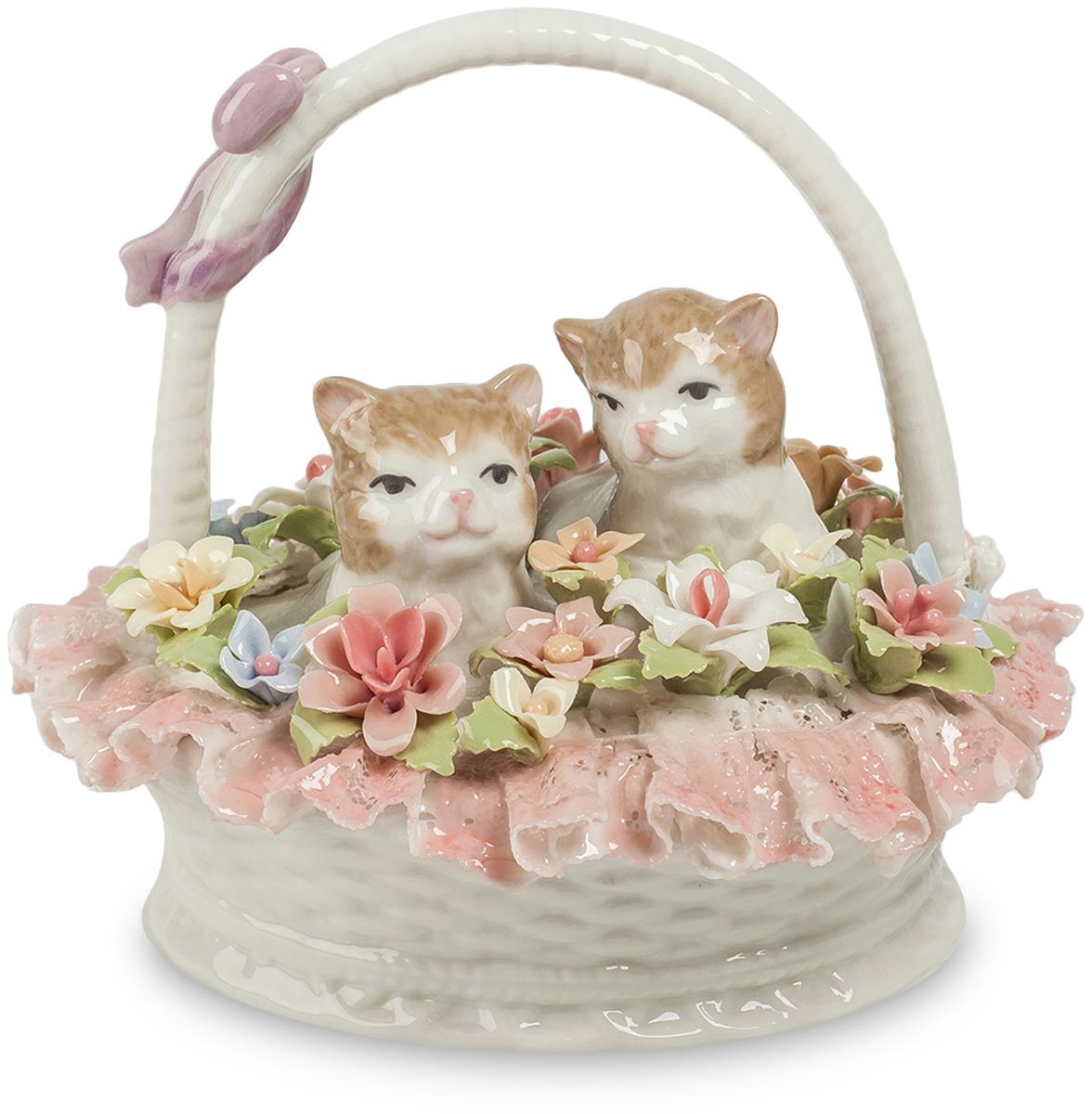 Фигурка Pavone Котята в цветочной корзине. CMS-15/9312723Фигурка Котята в цветочной корзине (Pavone)