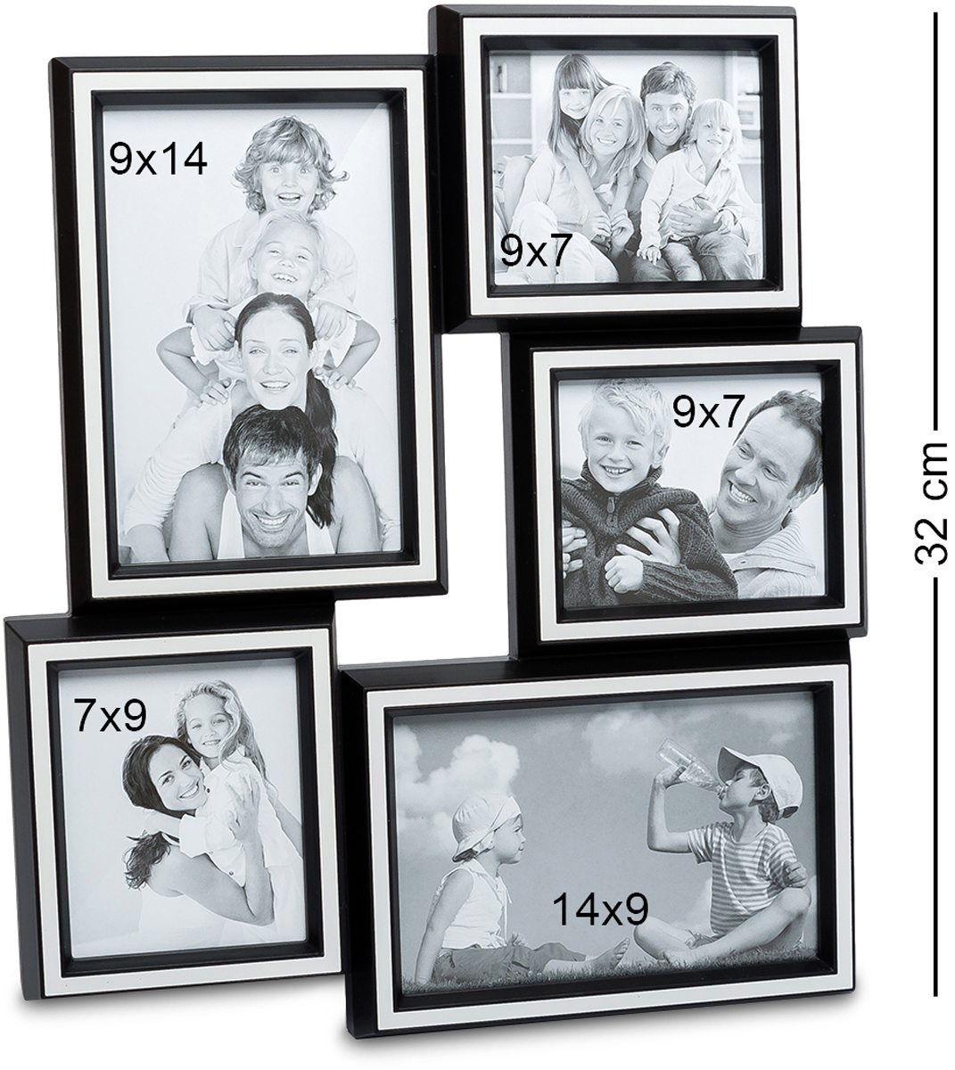 Панно из фоторамок Bellezza Casa Семейная история, на 5 фото: 10х15, 9х7, 7х9, 15х10. CHK-15974-0120Панно из фоторамок для фотографий 10х15, 9х7, 7х9, 15х10 см.Наш мир с каждым поколением радикально меняется, меняются стереотипы поведения, модели отношений между людьми, изменяется шкала ценностей. Но лишь одно остается неизменным – семья, родители, дети. Эта традиция веками проходит через каждого человека. Фоторамка Семейная история, рассчитанная на 5 фотографий, поможет всегда помнить о своих корнях – родителях, о продолжении своего рода – наших детях. Благодаря тому, что такая фоторамка очень просто крепится к любой стене, она не займет много места, и в то же время – все семейные ценности будут всегда перед глазами. Теперь можно не расставаться со своей семьей даже на работе. Кроме того, такая рамка – это отличный подарок на юбилей или день рождения, День Влюбленных или Новый год. Ничто ни ценится так дорого – как семья и близкие сердцу родные люди.