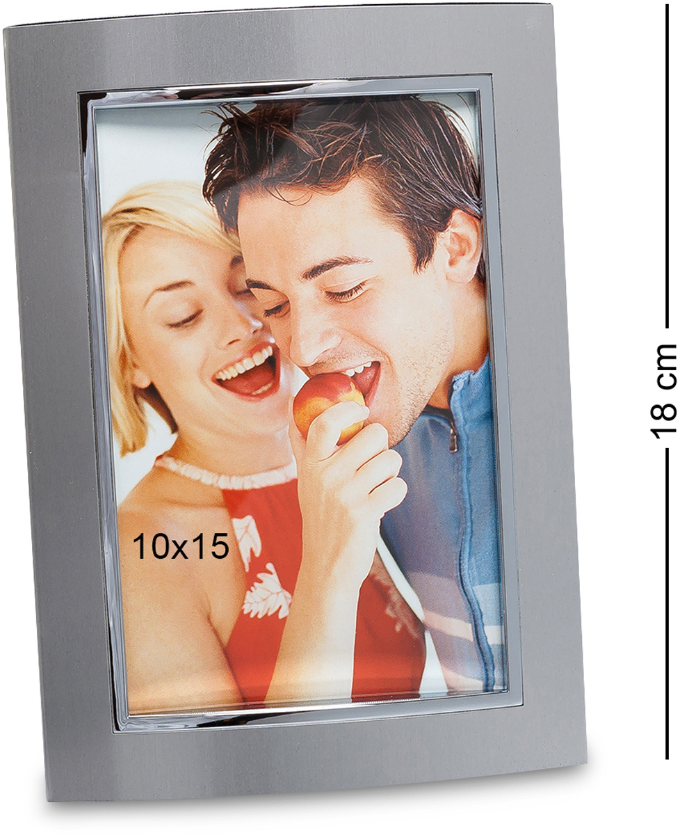 Фоторамка Bellezza Casa Яркое свидание, фото 10х15. CHK-018FS-80299Фоторамка для фотографий 10х15 см (метал блест., матов.)Довольно простая, но симпатичная фоторамка. Красивое исполнение изделия и элегантность дизайна помогут создать незабываемый образ лучших моментов, запечатлённых на фото. Материал изготовления и отсутствие острых углов обеспечат удобство, долговечность и безопасность. Благодаря спокойной и изысканной цветовой гамме идеально подойдёт для любого интерьера.