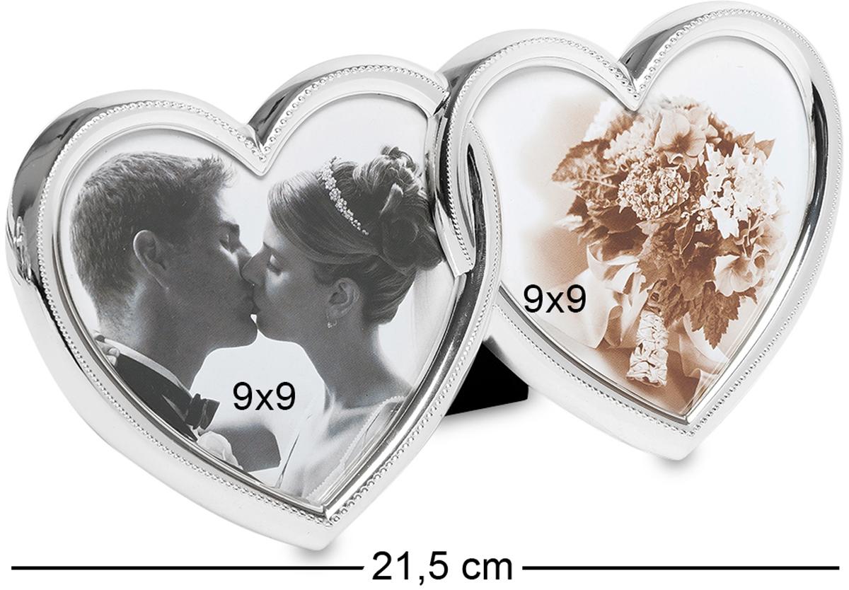 Фоторамка Bellezza Casa Влюбленные сердца, на 2 фото: 9х9. CHK-057RG-D31SФоторамка Сердце на 2 фото для фотографий 9х9 см.В период романтических отношений все всегда воспринимается по-особенному. В этот период все желают сделать приятно своим половинкам. Влюбленные пары делают множество фотографий, которыми в итоге постоянно любуются. Поэтому, мы все часто желаем, чтобы фотографии были, красиво оформлены не в обычные фоторамки, а в неординарные, удивительно красивые рамочки. А в особенности, если фото символические, то и преподнести их хочется каким-то необычным образом. Фоторамка Влюбленные сердца прекрасно подойдет для этой цели. Во-первых, она необычайно красива по своему оформлению. Чего только стоит форма рамочки. А во-вторых, как удивительно красиво смотрятся маленькие камешки по ободку сердец. Она, несомненно, украсит собой любую фотографию.