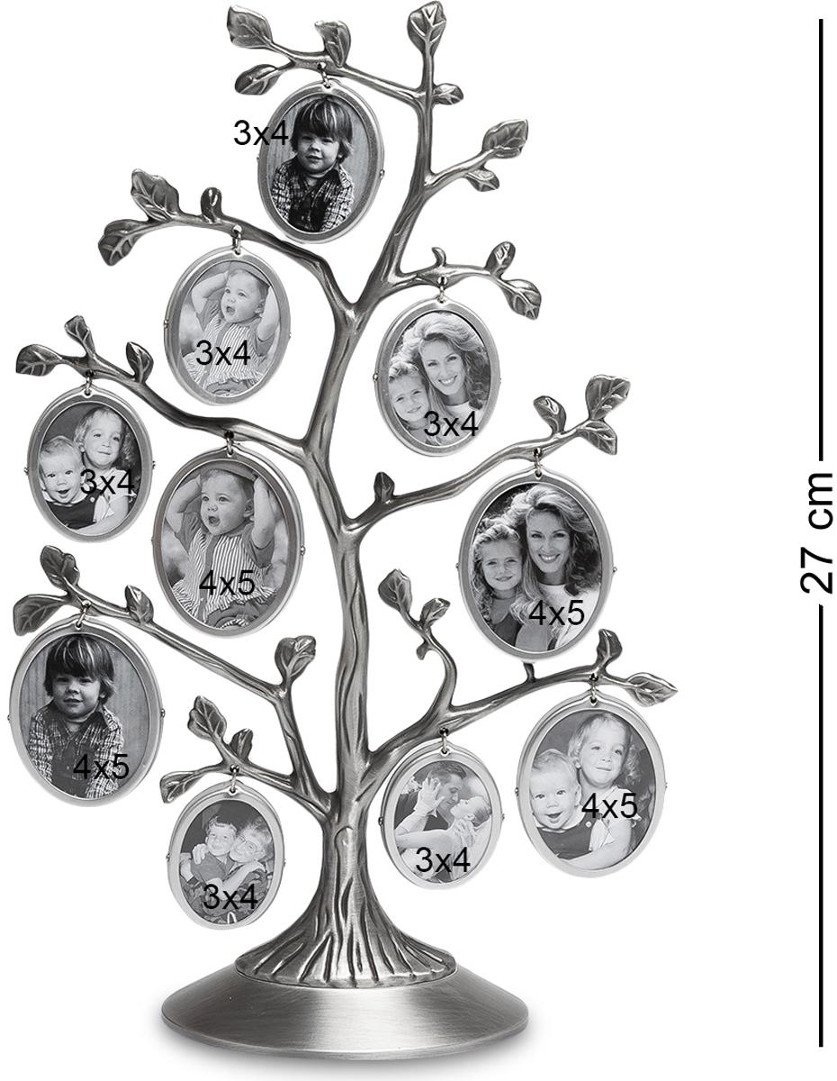 Фоторамка Bellezza Casa Семейное Дерево, на 10 фото: 4х5, 3х4. CHK-095THN132NФоторамка Дерево на 10 фото для фотографий 4х5 и 3х4 см.Фоторамка Семейное Дерево - это превосходный подарок как для всей семьи, так и для одного человека. Представьте, в эту рамку вы можете вставить 10 небольших фотографий, которые будут отображать разные моменты вашей жизни! Вы можете вставить туда фотографию своего ребенка, и добавлять их по мере того, как он будет расти. В итоге, когда ребенок вырастет, у вас будет целое дерево фотографий, где будут запечатлены все его этапы взросления! Фоторамка изготовлена из металла, поэтому она прослужит вам долгую жизнь, и с ней, как и со снимками, ничего не случится.