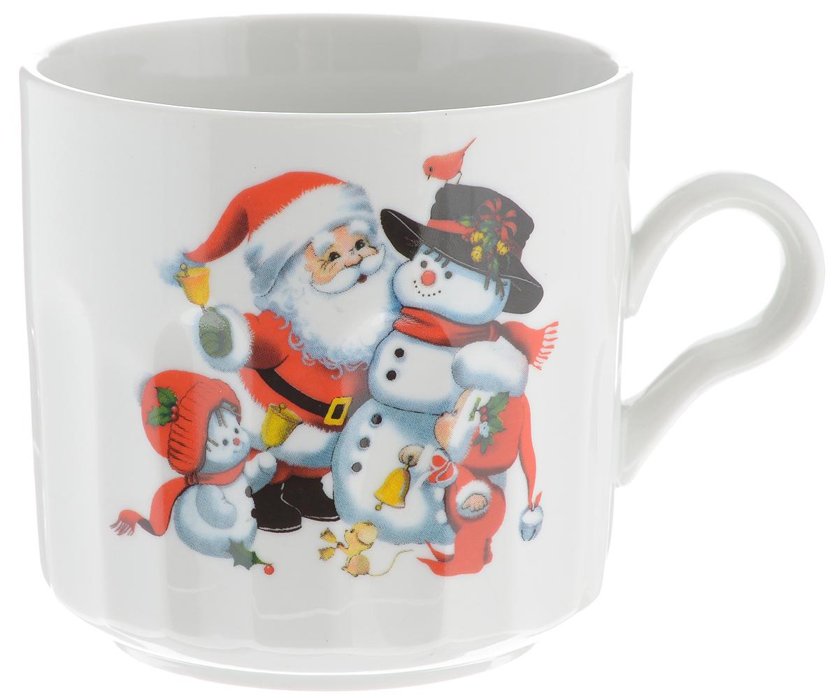 Кружка Фарфор Вербилок Дед Мороз, цвет: красный, серый, высота 9,5 смVT-1520(SR)Красивая кружка Фарфор Вербилок Дед Мороз способна скрасить любое чаепитие. Изделие выполнено из высококачественного фарфора. Посуда из такого материала позволяет сохранить истинный вкус напитка, а также помогает ему дольше оставаться теплым.Диаметр по верхнему краю кружки: 9,5 см.Диаметр основания: 9 см.Высота кружки: 9,5 см.