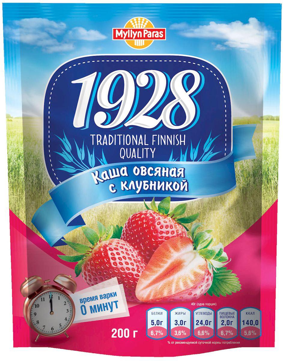 Myllyn Paras каша овсяная с клубникой и сахаром, 200 г