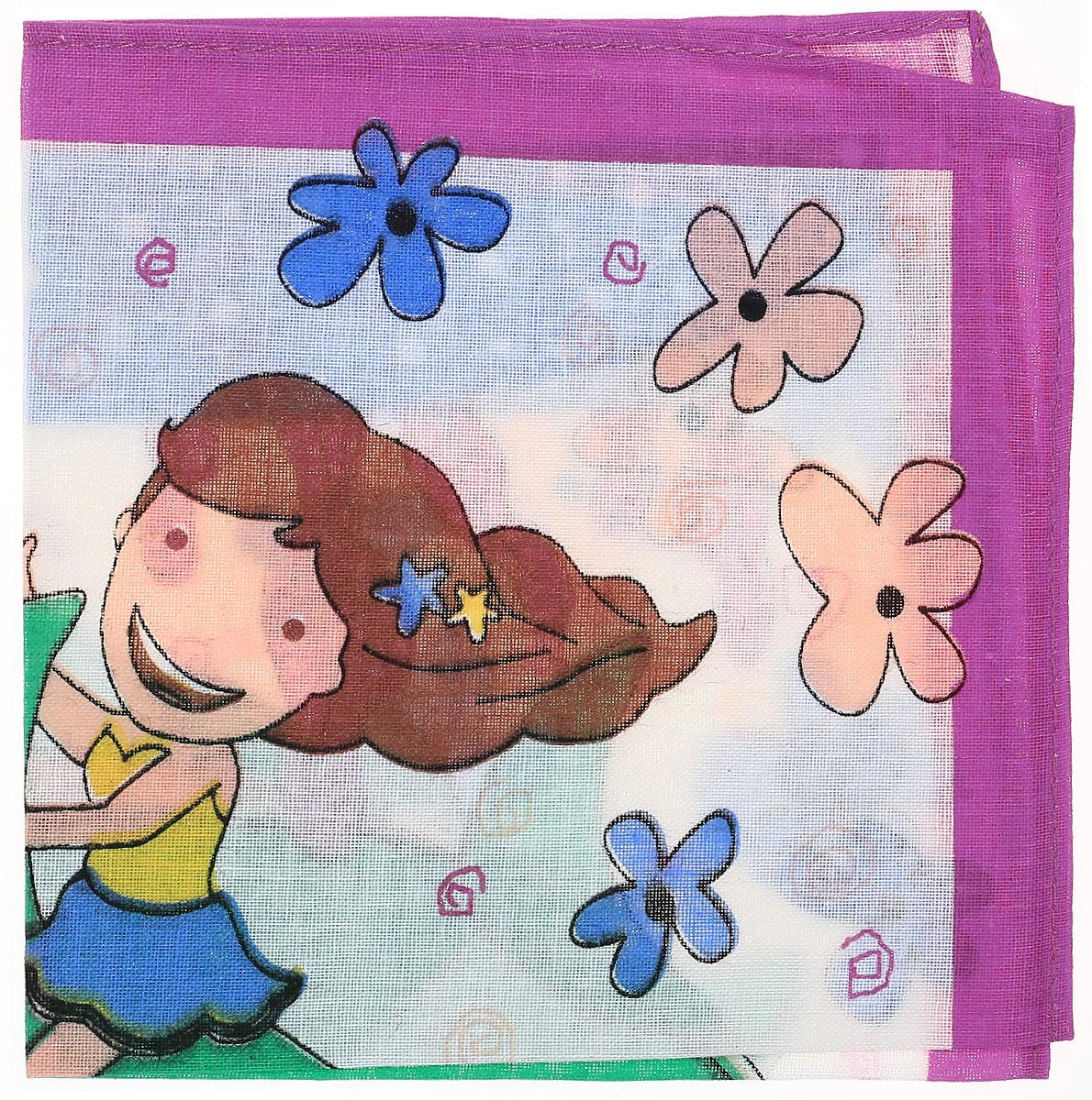 Платок носовой детский Zlata Korunka, цвет: мультиколор, 45453. Размер 27 х 27 см39864|Серьги с подвескамиДетский носовой платочек Zlata Korunka изготовлен из натурального хлопка, приятен в использовании, хорошо стирается, материал не садится и отлично впитывает влагу. Оформлен платок интересным цветочным принтом с изображением девочки.