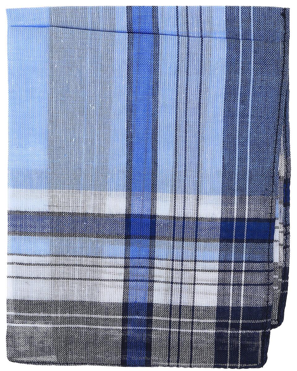 Платок носовой мужской Zlata Korunka, цвет: синий, голубой. 45449. Размер 27 х 27 см39864|Серьги с подвескамиМужской носовой платой Zlata Korunka изготовлен из натурального хлопка, приятен в использовании, хорошо стирается, материал не садится и отлично впитывает влагу. Оформлена модель принтом в полоску.