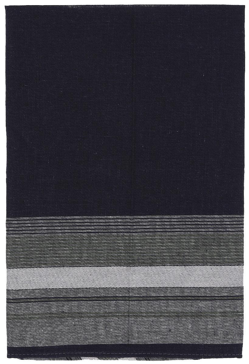 Платок носовой мужской Zlata Korunka, цвет: темно-синий, серый. 45480. Размер 27 х 27 смАжурная брошьМужской носовой платой Zlata Korunka изготовлен из натурального хлопка с добавлением полиэстера, приятен в использовании, хорошо стирается, материал не садится и отлично впитывает влагу. Оформлена модель принтом в полоску.