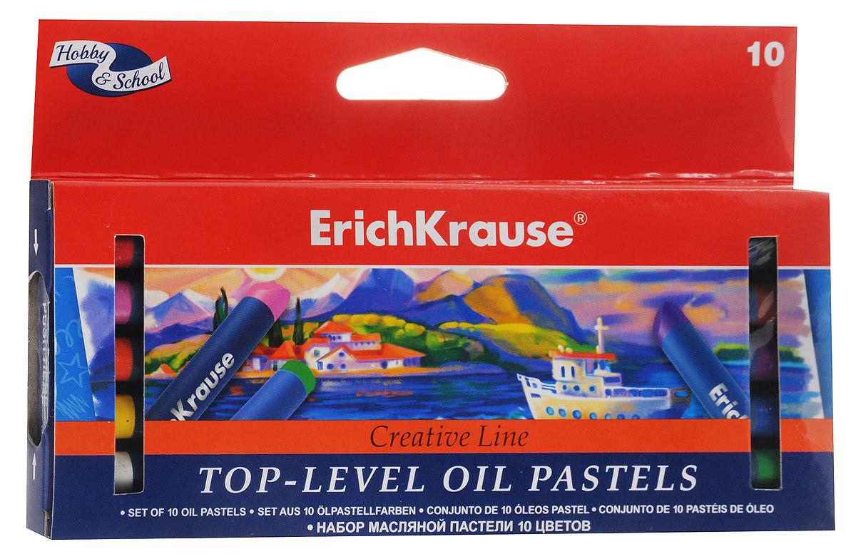 Erich Krause Пастель масляная Creative 10 цветов39115Масляная пастель Erich Krause Creative подходит для рисования на бумаге, картоне и дереве, позволяет работать на мокрой поверхности. Пастель ярких цветов имеет бархатистую структуру, водостойка.Каждый брусок пастели в индивидуальной обертке.