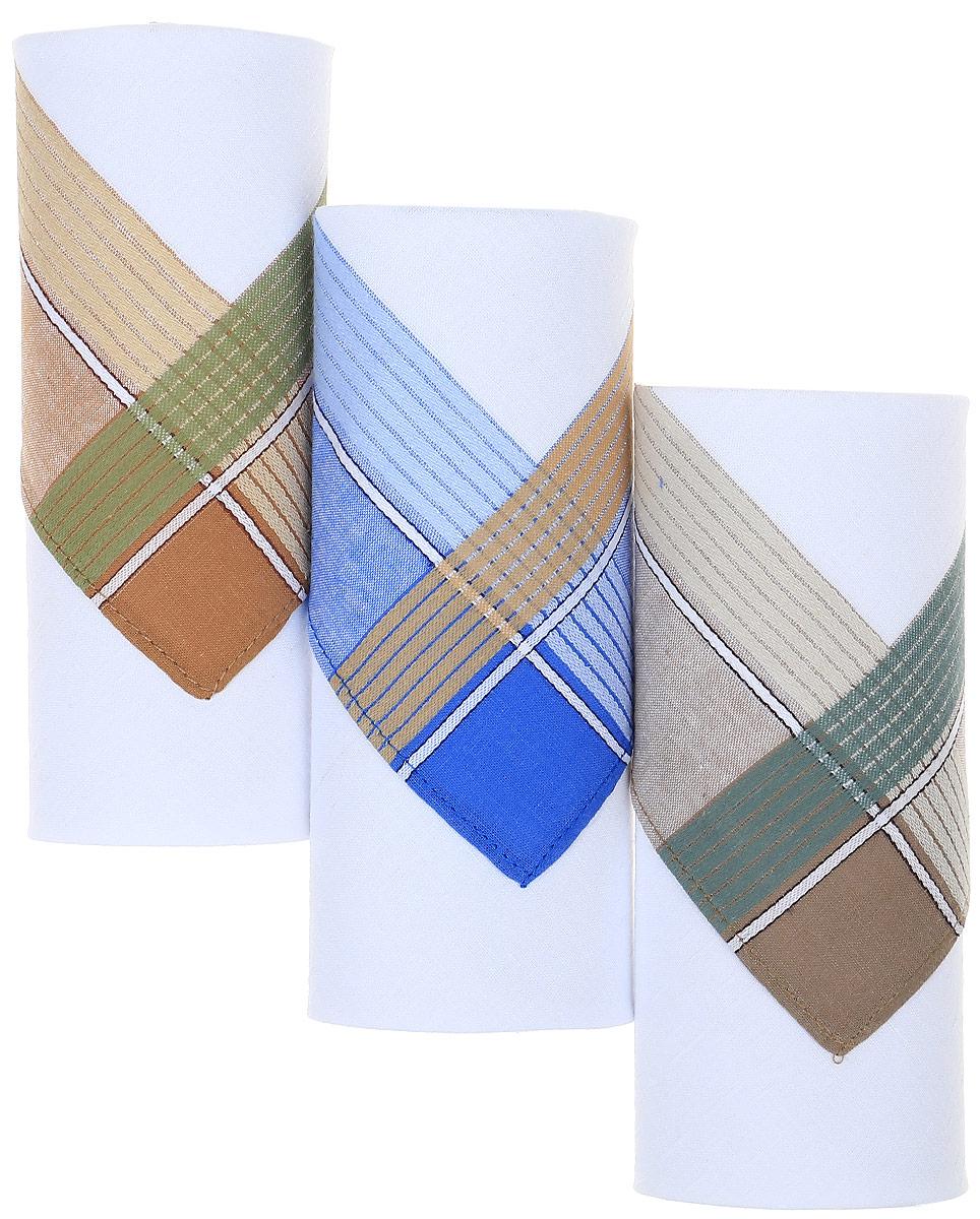 Платок носовой мужской Zlata Korunka, цвет: белый, мультиколор, 3 шт. М55С. Размер 43 х 43 смСерьги с подвескамиМужские носовые платки Zlata Korunka изготовлены из натурального хлопка, приятны в использовании, хорошо стираются, материал не садится и отлично впитывает влагу.В упаковке 3 штуки.