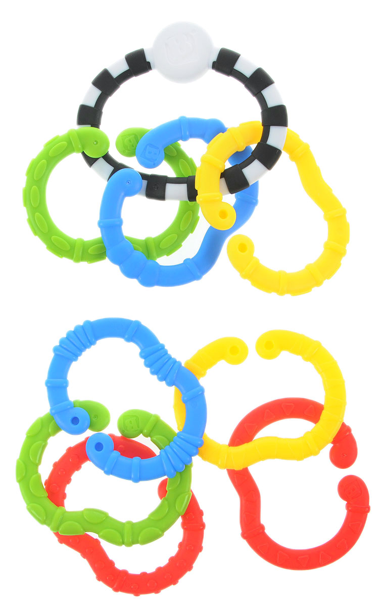 B kids Игрушка-подвеска Веселые колечки Малый набор battat b dot набор веселые колечки