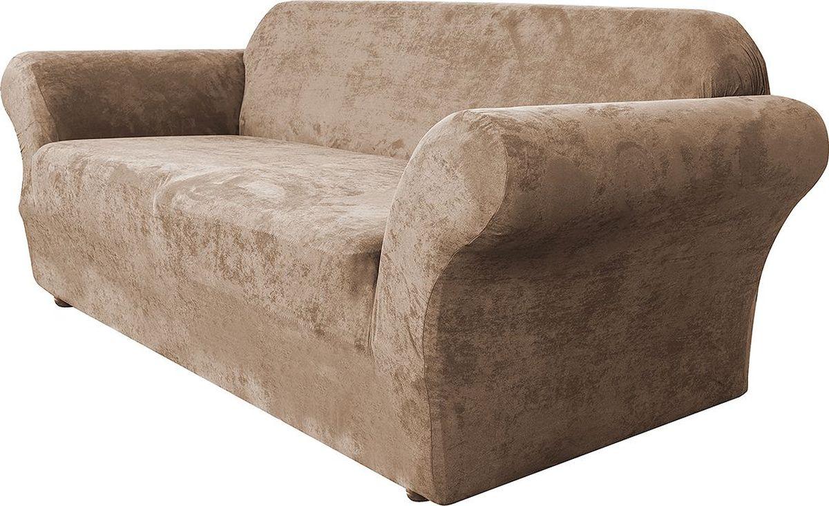 Чехол на трехместный диван Медежда Лидс, цвет: бежевый1403071103000Чехол на трехместный диван Медежда Лидс изготовлен из искусственной замши, благодаря чему он очень приятен на ощупь и практичен в использовании. Чехол легко растягивается, хорошо принимает форму дивана и подходит для большинства стандартных диванов с шириной спинки от 185 см до 235 см. Искусственная замша сочетает в себе изящество, стиль и характерные эффекты натуральной замши с прочностью, износостойкостью и фантастическими техническими характеристиками самых современных материалов. По внешнему виду материал практически неотличим от натуральной замши, имеет максимальное визуальное сходство и создает неповторимое ощущение теплоты и пространства.