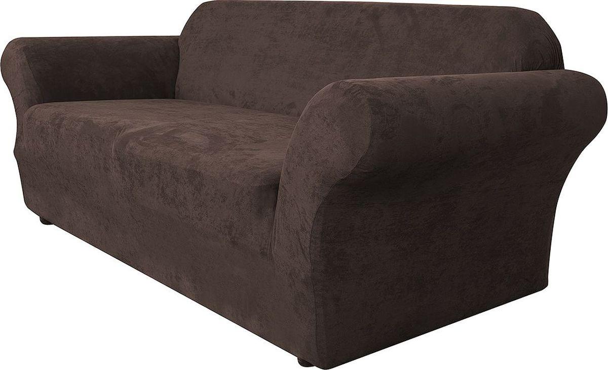 Чехол на трехместный диван Медежда Лидс, цвет: шоколадный1403071111000Чехол на трехместный диван Медежда Лидс изготовлен из искусственной замши, благодаря чему он очень приятен на ощупь и практичен в использовании. Чехол легко растягивается, хорошо принимает форму дивана и подходит для большинства стандартных диванов с шириной спинки от 185 см до 235 см. Искусственная замша сочетает в себе изящество, стиль и характерные эффекты натуральной замши с прочностью, износостойкостью и фантастическими техническими характеристиками самых современных материалов. По внешнему виду материал практически неотличим от натуральной замши, имеет максимальное визуальное сходство и создает неповторимое ощущение теплоты и пространства.