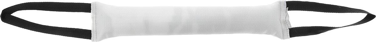 Игрушка для собак OSSO Fashion Кусалка, с двумя ручками, цвет: белый, черный, длина 40 см0120710Игрушка OSSO Fashion Кусалка предназначена для игр и развития спортивных навыков собаки, в том числе для игр, развивающих хватку. Может использоваться в качестве апортировочного предмета. Каркас изготовлен из высококачественного лавсана, а набивка выполнена из полиэтилена. Изделие оснащено двумя удобными ручками. Игрушка OSSO Fashion Кусалка является необыкновенно интересной и привлекательной для собак. Длина игрушки (без учета ручек): 40 см.Длина ручки: 20 см.