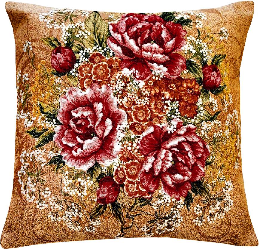 Подушка декоративная Рапира Розы, 45 х 45 см4303Декоративная подушка с наполнителем холлофайбер со съёмным чехлом на молнии, выполненным из жаккарда, - это яркий штрих в интерьере комнаты. Лицевая сторона - гобелен (жаккардовое ткачество), оборотная сторона -однотонная ткань типа плюш.УВАЖАЕМЫЕ КЛИЕНТЫ!Обращаем ваше внимание на цвет изделия. Цвет оборотной стороны может различаться. Поставка осуществляется в зависимости от наличия на складе.