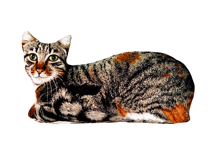 Подушка декоративная Рапира Барсик, 60 х 30 смS03301004Декоративная гобеленовая подушка в форме кошки.Чехол не снимается.Оборотная сторона гобелен с рисунком шкуры,повторяющим окраску кошки.