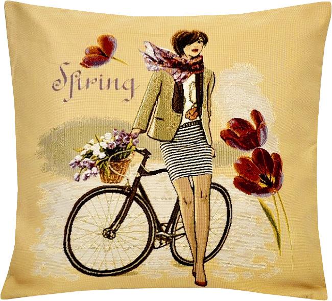 Подушка декоративная Рапира Леди весна, 45 х 45 смCLP446Декоративная подушка с наполнителем холлофайбер со съёмным чехлом на молнии, выполненным из жаккарда, - это яркий штрих в интерьере комнаты. Лицевая сторона - гобелен (жаккардовое ткачество), оборотная сторона -однотонная ткань типа плюш.