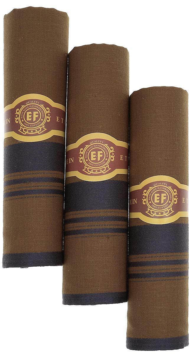 Платок носовой мужской Zlata Korunka, цвет: коричневый, темно-серый, 3 шт. М58В. Размер 43 х 43 см39864|Серьги с подвескамиМужские носовые платки Zlata Korunka изготовлены из натурального хлопка, приятны в использовании, хорошо стираются, материал не садится и отлично впитывает влагу.В упаковке 3 штуки.