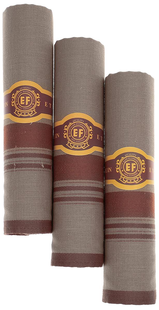 Платок носовой мужской Zlata Korunka, цвет: бежевый, медный, 3 шт. М58С. Размер 43 х 43 см39864|Серьги с подвескамиМужские носовые платки Zlata Korunka изготовлены из натурального хлопка, приятны в использовании, хорошо стираются, материал не садится и отлично впитывает влагу.В упаковке 3 штуки.