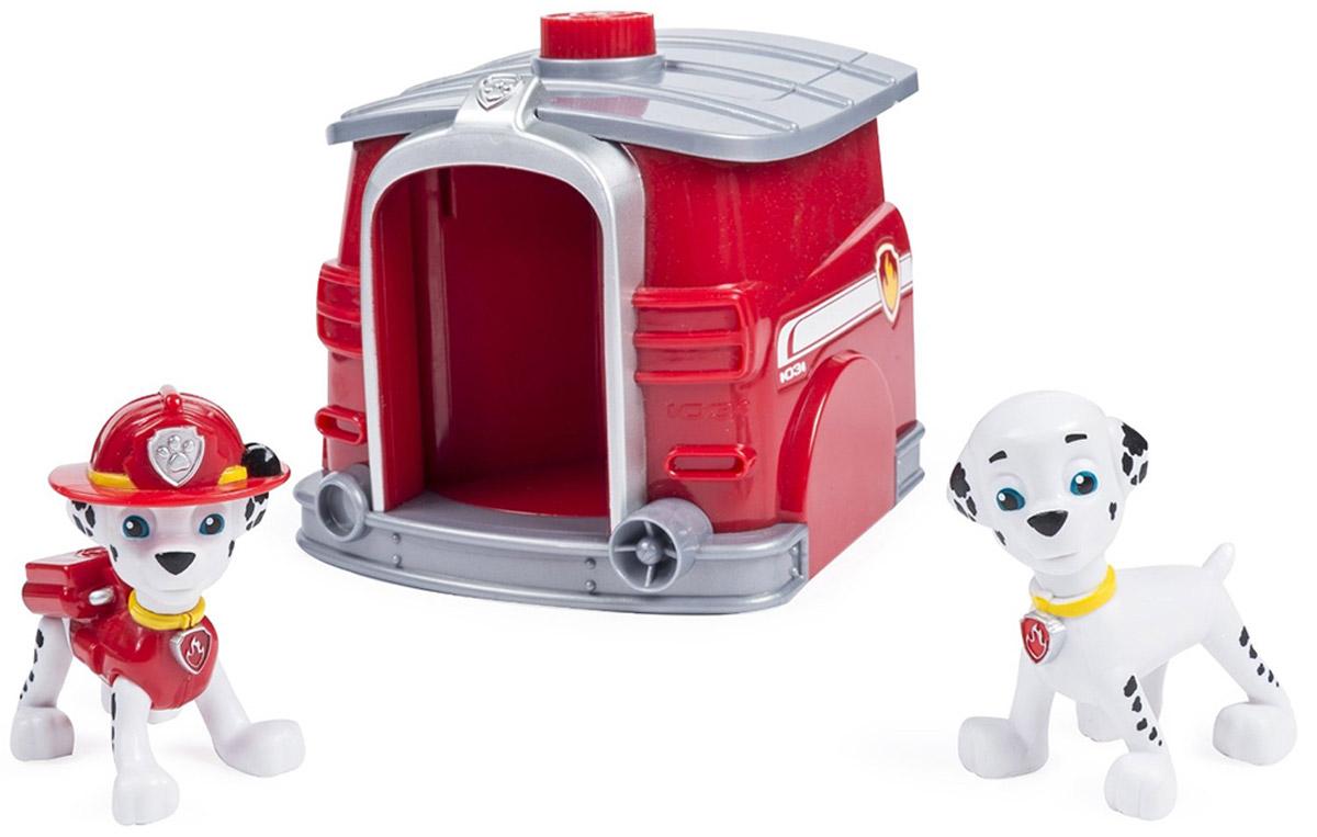 Paw Patrol Игровой набор Два щенка Маршалла в домике