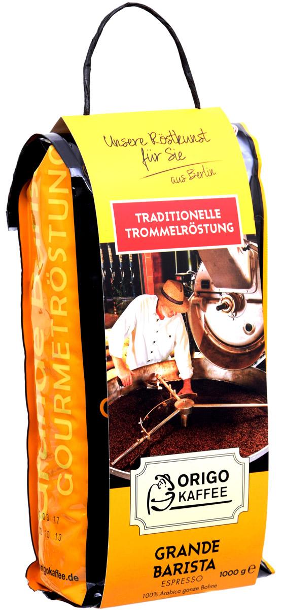 ORIGO Grande Barista Espresso кофе в зернах, 1 кг4251900_снегириМягкий сбалансированный кофе, без наличия дефектов во вкусе. Характерные для 100% Арабики кислые ноты приятно сочетаются с благородной легкой горечью и придают приятное послевкусие. Чувствуются шоколад, какао и легкий аромат кожи и специй.