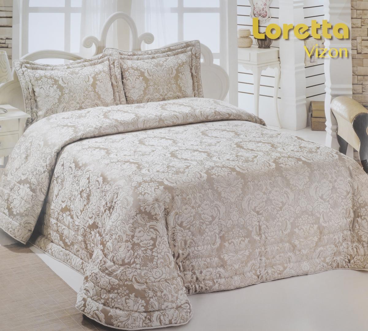 Комплект для спальни Modalin Nazsu. Loretta: покрывало 250 х 270 см, 2 наволочки 50 х 70 см, цвет: бежевый, белыйU210DFИзысканный комплект для спальни Modalin Nazsu. Loretta состоит из покрывала и двух наволочек. Изделия выполнены из высококачественного полиэстера и хлопка, легкие, прочные и износостойкие. Ткань блестящая, что придает ей больше роскошиКомплект Modalin Nazsu. Loretta - это отличный способ придать спальне уют и комфорт.Размер покрывала: 250 х 270 см.Размер наволочек: 50 х 70 см.
