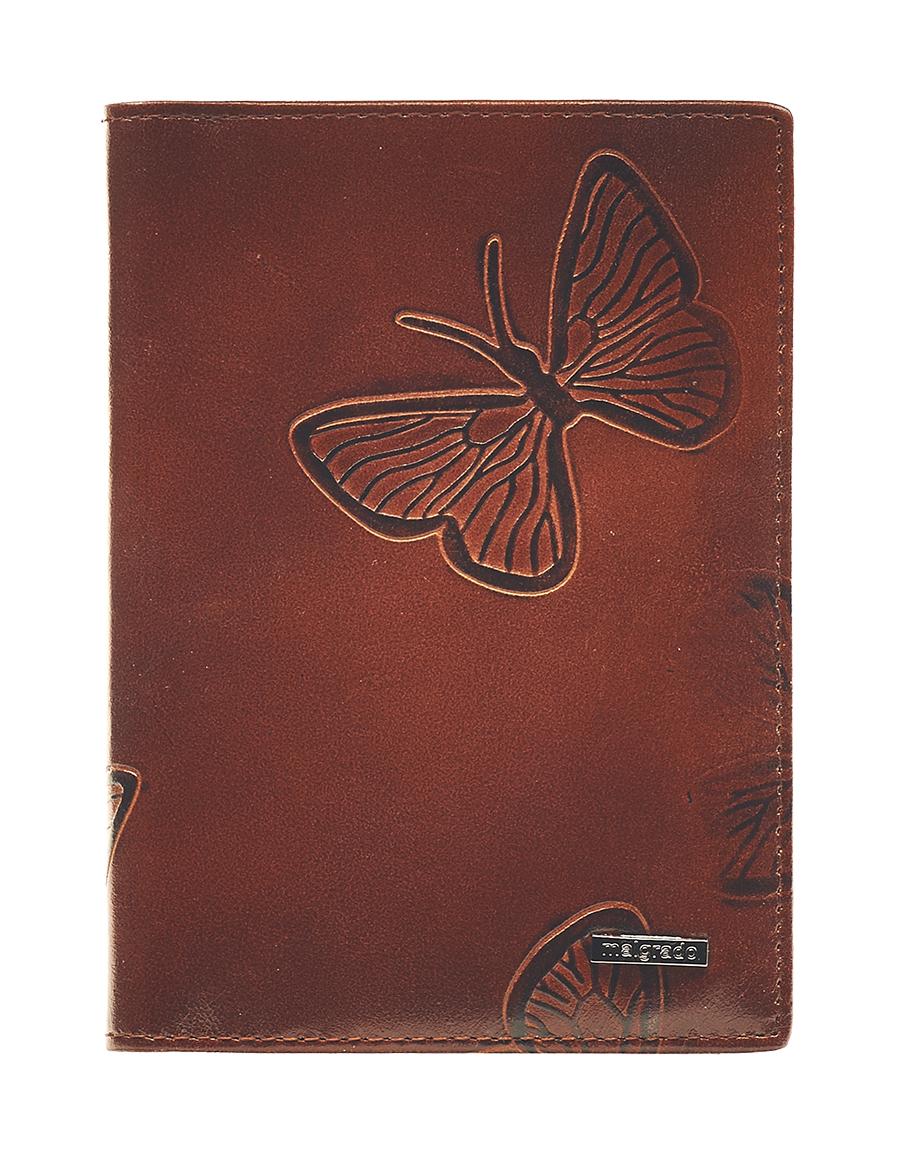 Обложка для паспорта Malgrado, цвет: коричневый. 54019-1-7002D54019-1-7002DСтильная обложка для паспорта Malgrado изготовлена из натуральной кожи коричневого цвета с декоративным тиснением в виде бабочек. Внутри содержит прозрачное пластиковое окно, съемный прозрачный вкладыш для полного комплекта автодокументов, пять отделений для кредитных и дисконтных карт. Обложка упакована в подарочную картонную коробку с логотипом фирмы. Такая обложка станет замечательным подарком человеку, ценящему качественные и практичные вещи. Характеристики:Материал: натуральная кожа, пластик. Размер обложки: 13,5 см х 9,5 см х 1,5 см. Цвет: коричневый.Размер упаковки:15,5 см х 11,5 см х 3,5 см. Артикул: 54019-1-7001D.