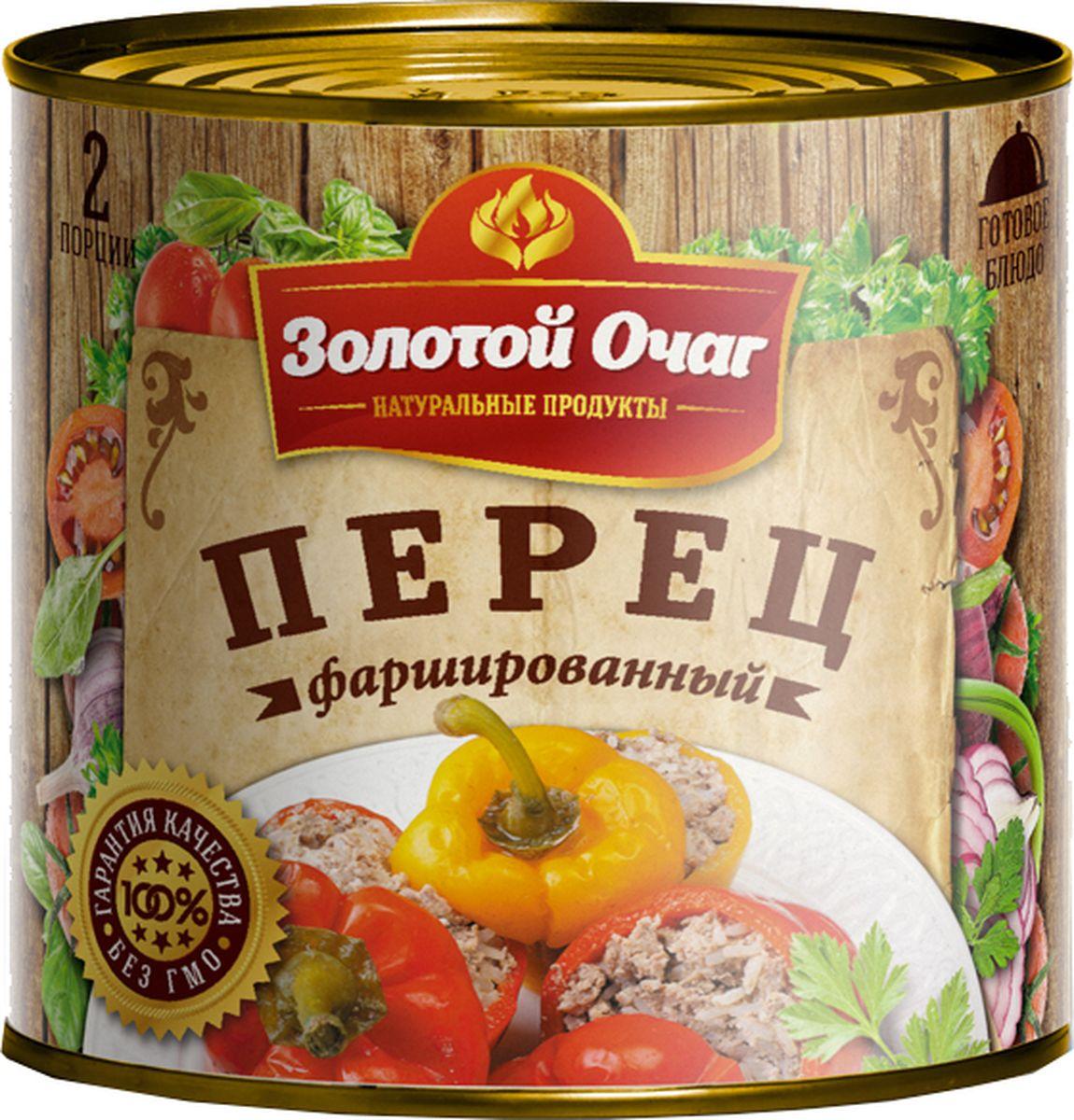 Золотой Очаг перец фаршированный мясом и рисом, 540 г