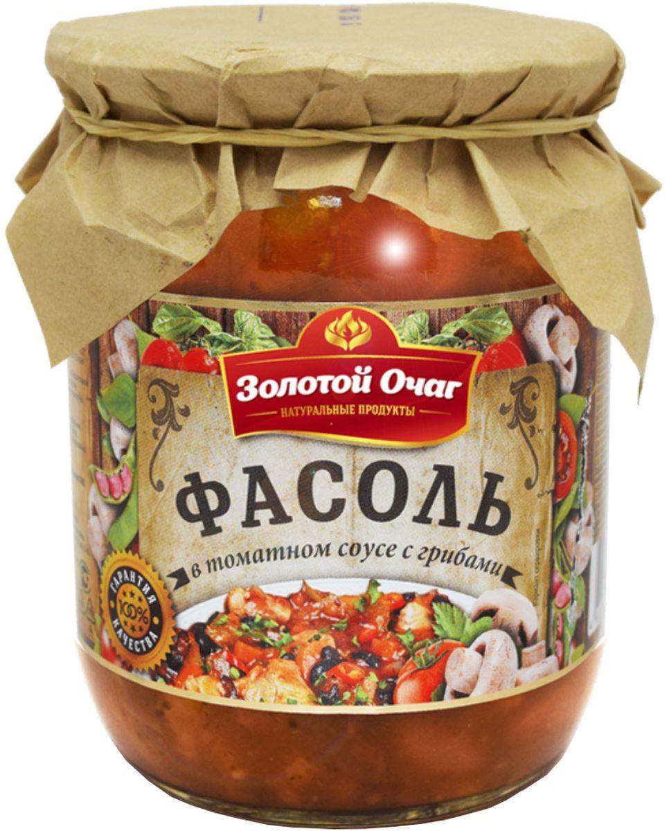 Золотой Очаг фасоль в томатном соусе с грибами, 520 г0120710Продукт готов к употреблению. Не содержит консервантов.