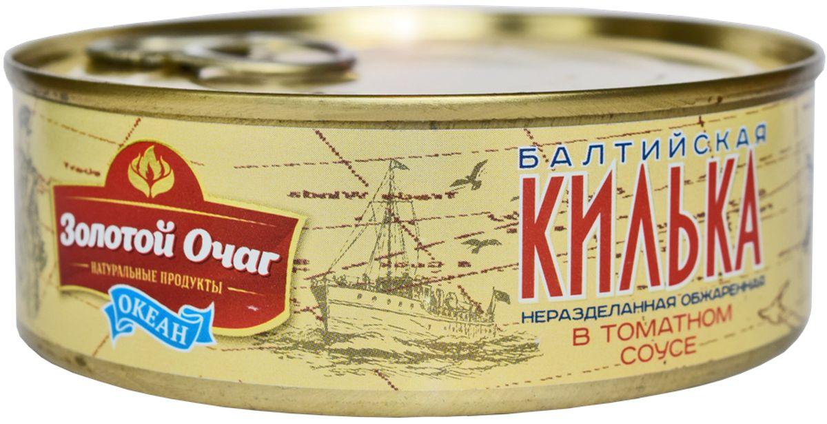 Золотой Очаг килька Балтийская обжареная в томатном соусе, 240 г0120710Продукт полностью готов к употреблению.