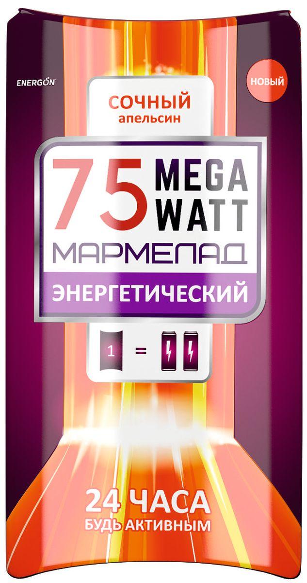 Energon 75 Megawatt мармелад энергетический, 30 г0120710Мармелад ЭНЕРГОН содержат тонизирующий комплекс на основе ягод гуараны и вкусом сочного апельсина: активирует концентрацию внимания, стимулирует умственную деятельность, улучшают настроение Не рекомендуется принимать: Более двух драже в сутки Ограничение по возрасту до 18 лет Беременным и кормящим женщинам Лицам, страдающим гипертензией Индивидуальная непереносимость компонентов