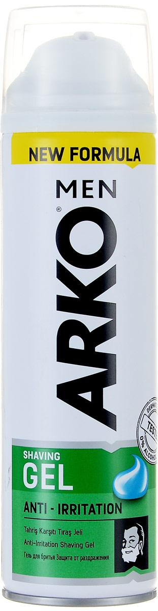 Arko Men Гель для бритья Anti-Irritation 200млMe Chic 120KГель для бритья уменьшает риск возникновения жжения кожи от бритья, за счет интенсивного смягчения щетины и увлажнения кожи. Содержит алое вера и экстракт ромашки.