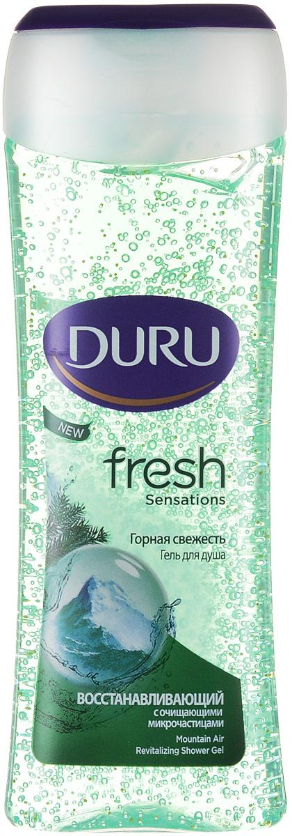 Duru Fresh Гель для душа Горный 250млBCSHEГель для душа с массажными частицами бережно очищает, помогая коже дышать. Подарите своей кожи дыхание свежести, заряд бодрости и энергии на весь день.