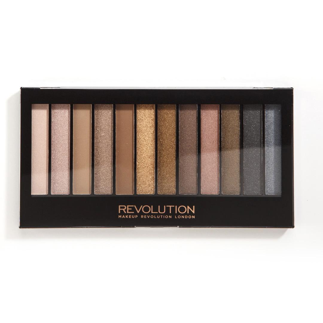 Makeup Revolution Набор теней Redemption Palette, Iconic 1, нюдовая, 14 грMFM-3101Must have в любой косметичке, эта палетка покорит тебя не только беспроигрышной палитрой из самых популярных оттенков теней, но и целой сокровищницей финишей - от совершенно матового до ослепительно шиммерного!