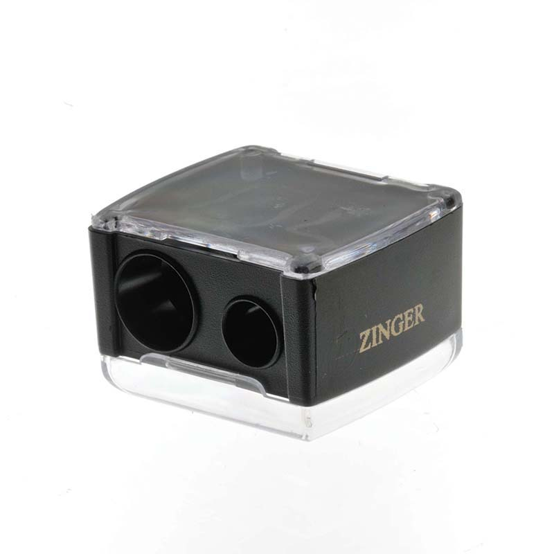 Zinger Точилка двойная zo-SH-2228032022Точилка подходит для любых видов косметических карандашей. Имеет два диаметра для затачивания. Лезвия изготовлены из высококачественной стали и профессионально заточены