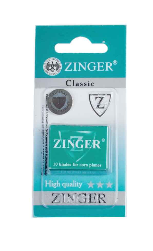 Zinger Лезвия для экстрактора zo-BLADES-10-1, 10 штук53E_салатовыйКомплект лезвий для педикюрного станка