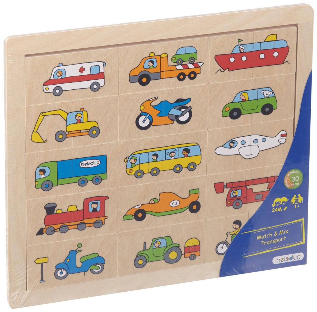 Beleduc Пазл для малышей Транспорт beleduc развивающая игрушка зоопарк