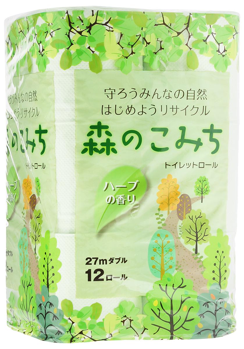 Бумага туалетная Marutomi  Лесная тропинка , двухслойная, 12 рулонов - Туалетная бумага