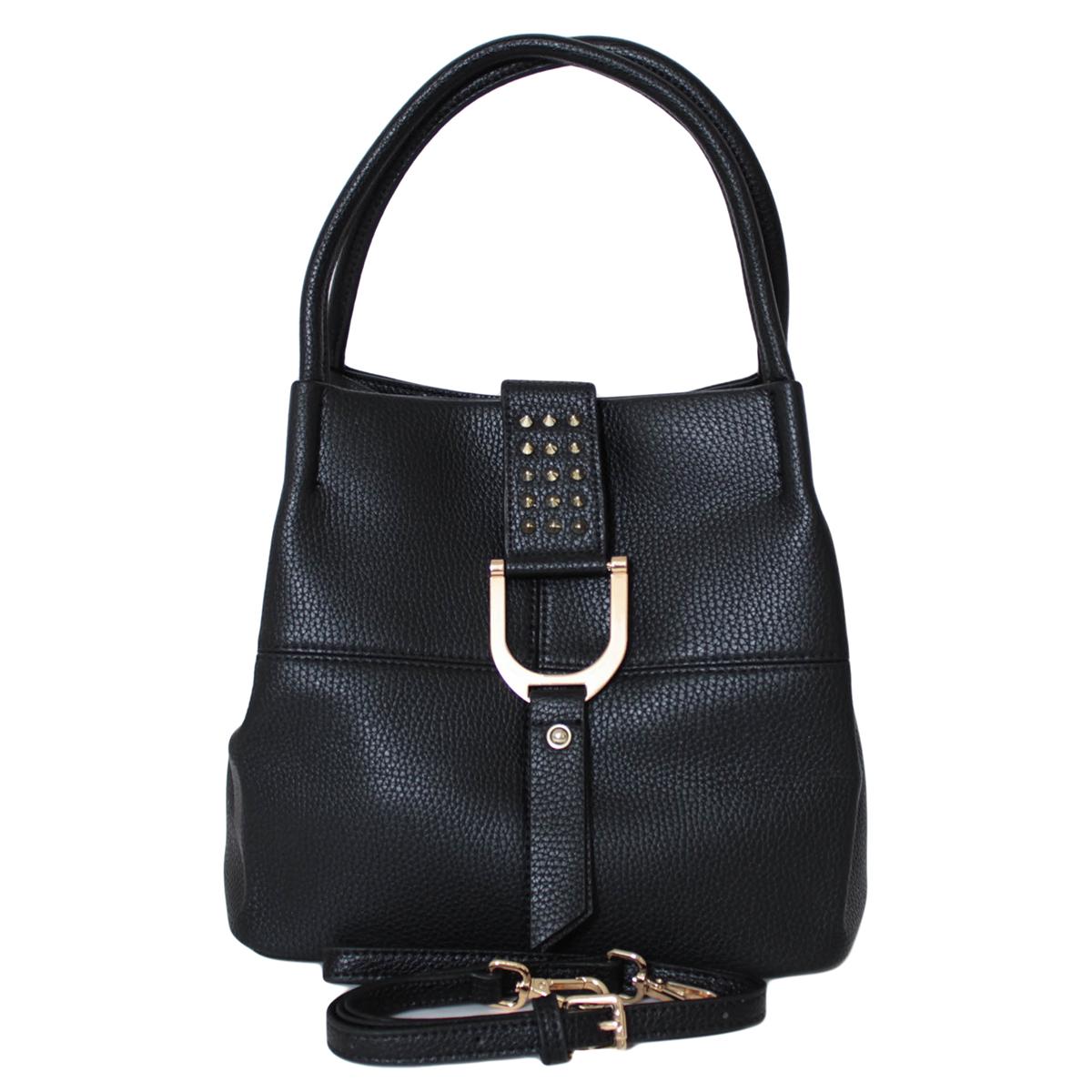 Сумка женская Flioraj, цвет: черный. 00052722L39845800Сумка женская Flioraj закрывается на хлястик и магнитную кнопку. Внутри - одно отделение, один карман на молнии и два открытых кармана кармана. Есть длинный ремень.