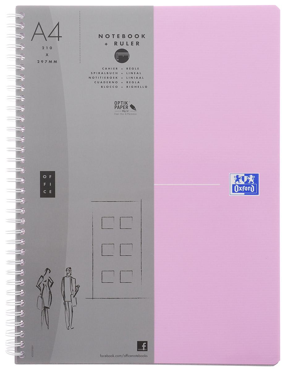 Oxford Тетрадь Beauty 90 листов в клетку цвет светло-розовый72523WDКрасивая и практичная тетрадь Oxford Beauty отлично подойдет для школьников, студентов и офисных служащих.Обложка тетради выполнена из плотного, но гибкого ламинированного картона с закругленными краями. Тетрадь формата А4 состоит из 90 белых листов на двойном гребне с линовкой в клетку без полей. Практичное и надежное крепление на гребне позволяет отрывать листы и полностью открывать тетрадь на столе. Тетрадь дополнена съемной закладкой-линейкой из гибкого пластика.Вне зависимости от профессии и рода деятельности у человека часто возникает потребность сделать какие-либо заметки. Именно поэтому всегда удобно иметь эту тетрадь под рукой, особенно если вы творческая личность и постоянно генерируете новые идеи.