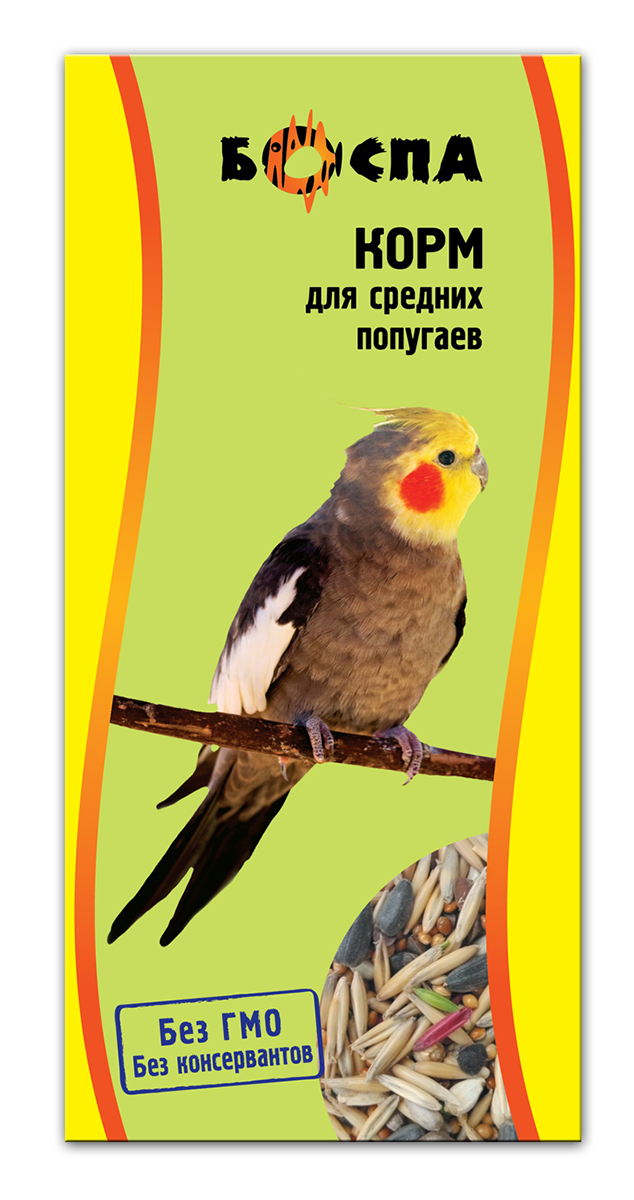 Корм для средних попугаев Боспа, 500 г0120710Полнорационный корм для домашних животных